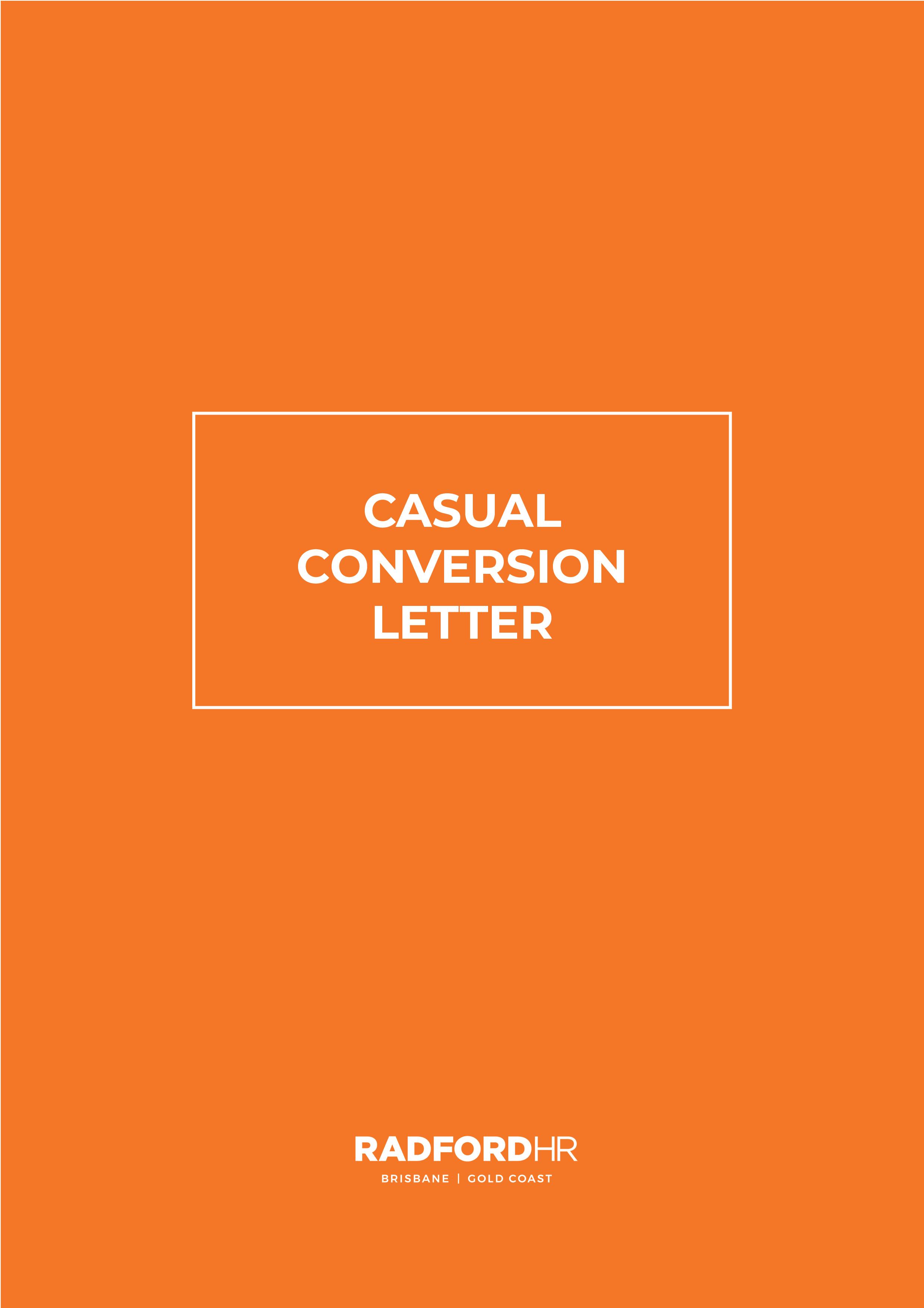 Casual Conversion Letter